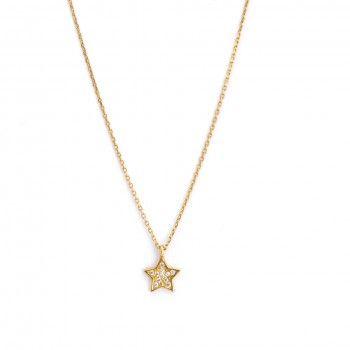 Colar Ouro 9kts - Estrela