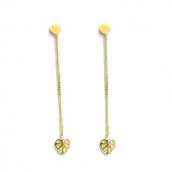 Golden Heart Effect Earrings