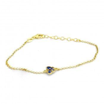 Pulseira Dourada Borboleta Azul
