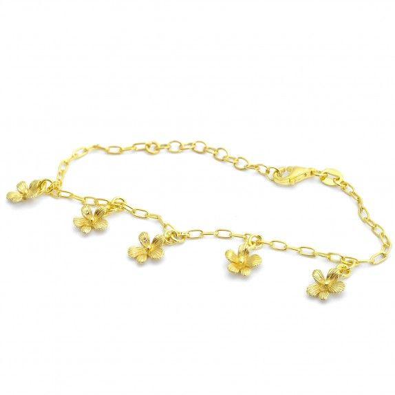 Pulseiras Douradas Jardim de Flores
