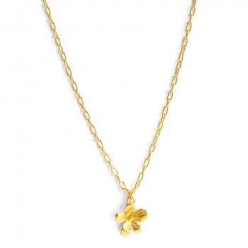 Colar Dourado Ponto Flor