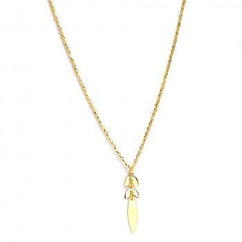 Colar Dourado Cauda Baleia
