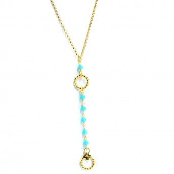 Colar Dourado - Circulo&Azuis