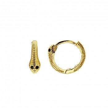 Argolas Douradas Cobra Circulo