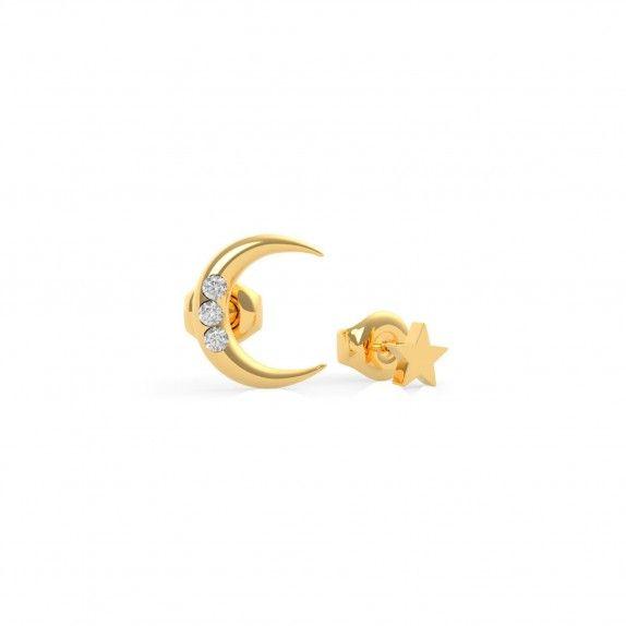 Brincos Dourado Lua&Estrela - Guess