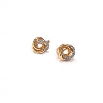 Earrings 19k Gold Bright Circle