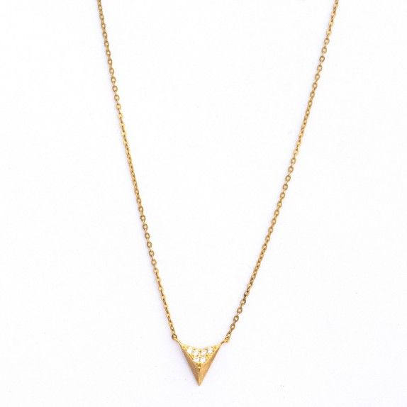 Colar Ouro 9kts - Triângulo