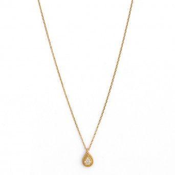 9kts Gold Necklace - Teardrop