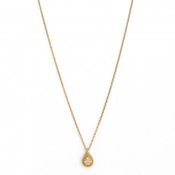 9kts Gold Necklace - Teardrop