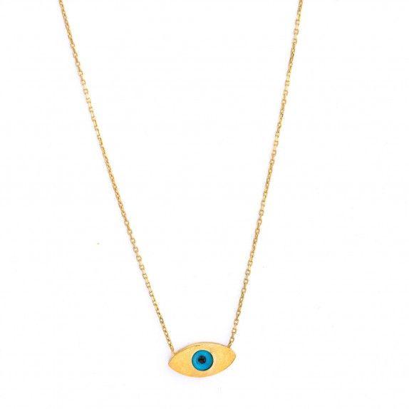 Colar Ouro 9kts - Olho Turco