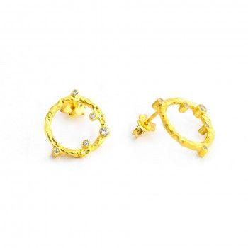 Brincos Dourados Tronco - Exclusivo Kiko