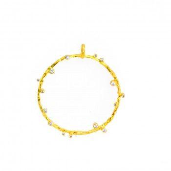 Medalha Dourada Tronco - Exclusivo Kiko