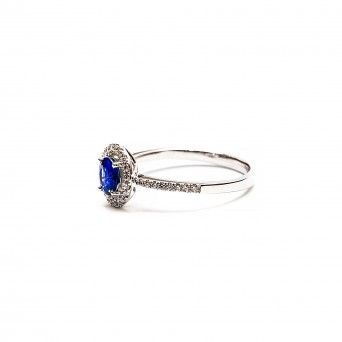 Anel 750 C/Diamantes&Safira
