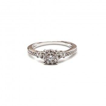 18kts Gold Ring w / Diamonds - Eternally