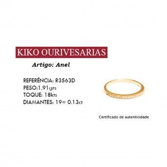Anel 750 C/Diamantes - Memória