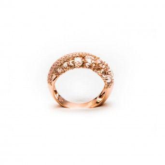 Anel 750 C/Diamantes - Rose
