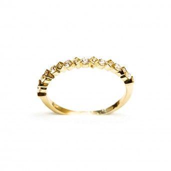 Anel Ouro 18 kts C/diamantes - Amor Eterno