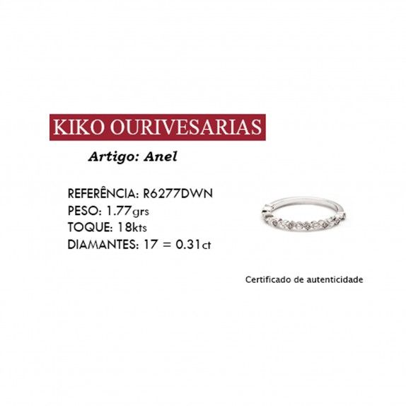 Anel Ouro 18kts C/Diamantes - Amor Eterno