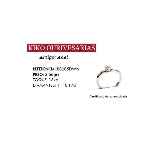 Anel Ouro 18kts C/Diamante - Big Yes!