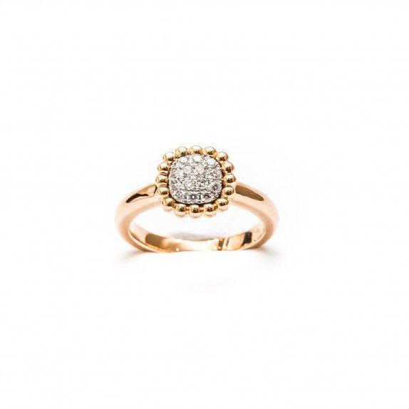 Anel Ouro 18kts C/Diamantes - Points