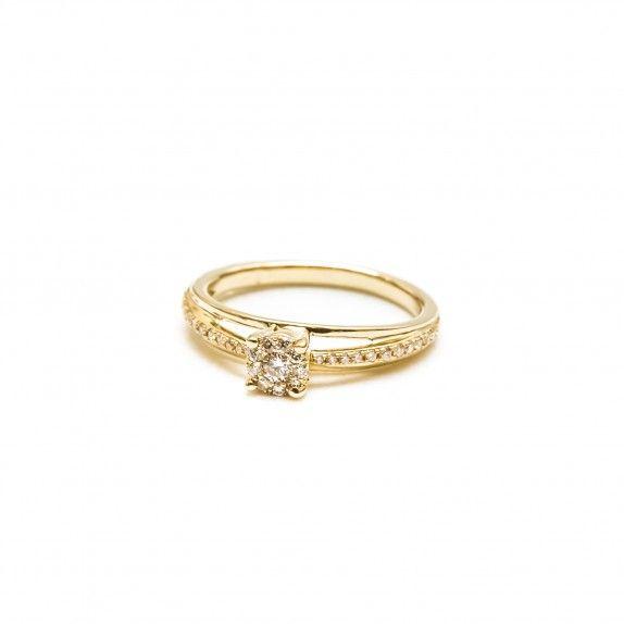 Anel Ouro 18kts  C/Diamantes - Marriage
