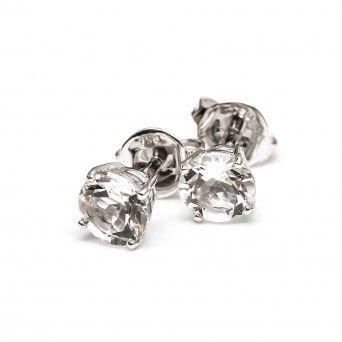 Brincos Ouro 18kts C/Diamantes - Ponto