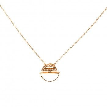 Colar Ouro 18kts C/Diamantes&Madrepérola