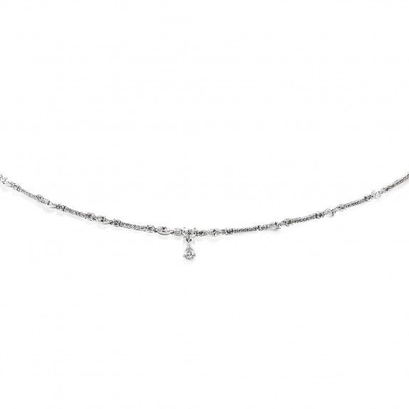 Colar Ouro 18kts  C/Diamantes - Gota