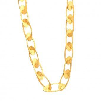 Colar Dourado Acetinado - Class