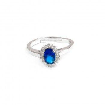 Anel Lady Di Azul - Ajustável