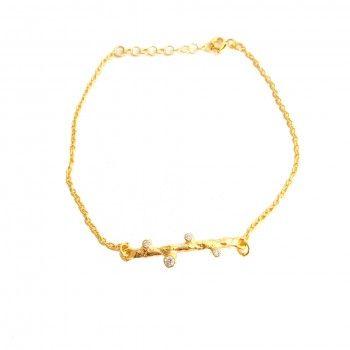 Pulseira Dourada Tronco Pequeno