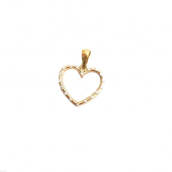 Medalha Ouro 9kts - Shiny Heart