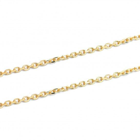 Colar Dourado Cadeado 55cm