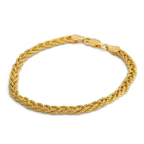 Pulseira Dourada Cardano 18.5cm