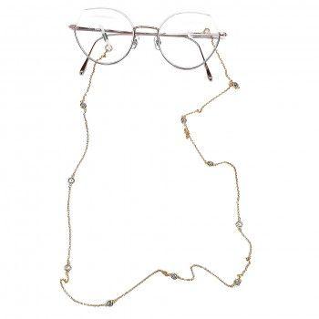 Corrente de Óculos Dourado Precioso