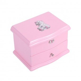 Caixa de Música Rosa - Urso