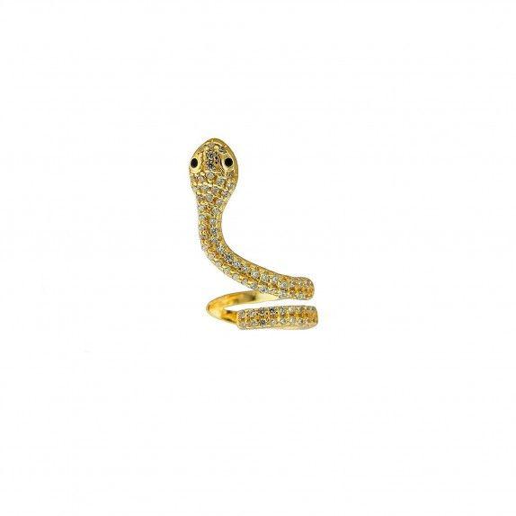 Brinco Dourado Percorrer Cobra