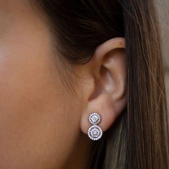 Brincos two shiny circles