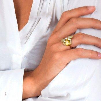 Anel Dourado Colmeia&Abelha