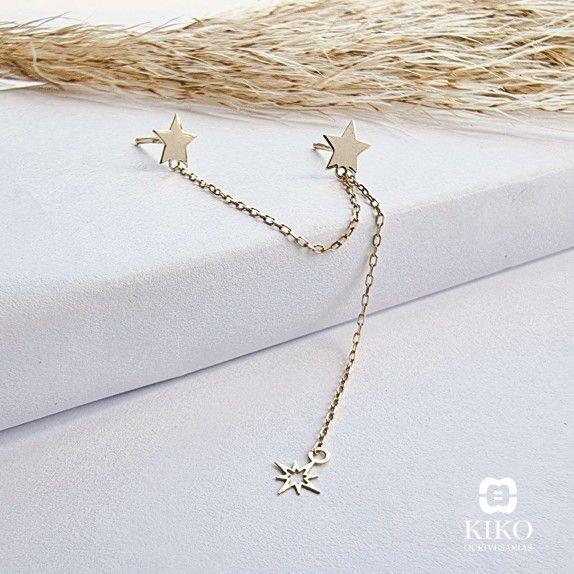BRINCO OURO 9KT - ESTRELAS